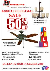 ANNUAL CHRISTMAS SALE 50% OFF