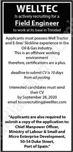 WELLTEC Is actively recruiting for a Field Engineer to work at its base in Trinidad
