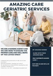 Amazing Care Geriatric Services Available